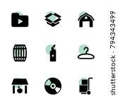 storage icons. vector...   Shutterstock .eps vector #794343499