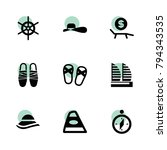 travel icons. vector collection ... | Shutterstock .eps vector #794343535