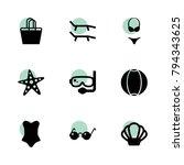 beach icons. vector collection... | Shutterstock .eps vector #794343625