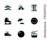 recreation icons. vector...