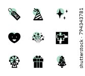 holiday icons. vector...