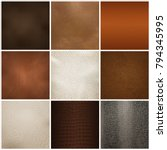 trendy leather textures samples ... | Shutterstock .eps vector #794345995