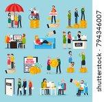 social security orthogonal... | Shutterstock .eps vector #794346007
