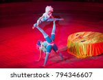 performance of acrobats in the...   Shutterstock . vector #794346607