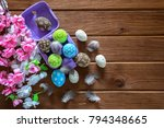 painted easter eggs with... | Shutterstock . vector #794348665