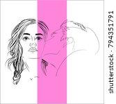 vector illustration character... | Shutterstock .eps vector #794351791
