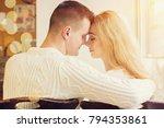 back view of handsome man... | Shutterstock . vector #794353861