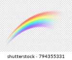 rainbow smear isolated on... | Shutterstock .eps vector #794355331
