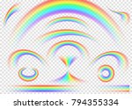 rainbow set isolated on... | Shutterstock .eps vector #794355334