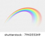 rainbow with limpid section... | Shutterstock .eps vector #794355349