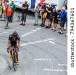 Small photo of Col du Glandon, France - July 24, 2015: The Czech cyclist Jan Barta of Bora-Argon 18 Team,climbing the road to Col du Glandon in Alps, during the stage 19 of Le Tour de France 2015.