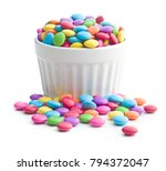 colorful chocolate candies in... | Shutterstock . vector #794372047