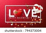love valentine's day... | Shutterstock .eps vector #794373004