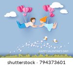 valentine's day card. abstract... | Shutterstock .eps vector #794373601