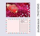 valentine's day postcard vector ... | Shutterstock .eps vector #794374945