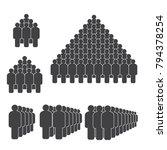 people icon set in trendy flat... | Shutterstock .eps vector #794378254