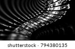 abstract background with metal... | Shutterstock . vector #794380135