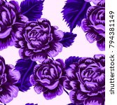 rose seamless pattern.... | Shutterstock .eps vector #794381149