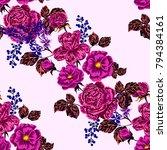 rose seamless pattern.... | Shutterstock .eps vector #794384161