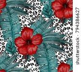 watercolor seamless pattern... | Shutterstock . vector #794386627