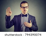 young man in formal clothing... | Shutterstock . vector #794390074
