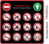 prohibited signs. sticker for... | Shutterstock .eps vector #79439011