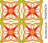 seamless vintage floral vector... | Shutterstock .eps vector #794395675
