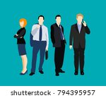 set of silhouettes of business... | Shutterstock .eps vector #794395957