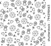 love symbols seamless pattern.... | Shutterstock .eps vector #794398465