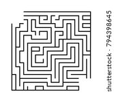 abstract square isolated maze....
