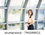 successful business woman... | Shutterstock . vector #794398921