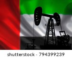 oil drilling pump on background ... | Shutterstock . vector #794399239