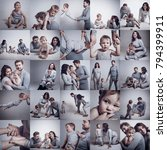 collage of photo  family in... | Shutterstock . vector #794399911