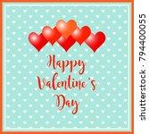 valentines day background.... | Shutterstock .eps vector #794400055