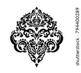 vintage baroque frame scroll... | Shutterstock .eps vector #794400289