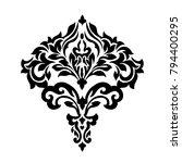 vintage baroque frame scroll... | Shutterstock .eps vector #794400295