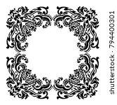 vintage baroque frame scroll... | Shutterstock .eps vector #794400301