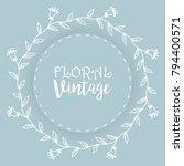 floral background  vintage... | Shutterstock .eps vector #794400571