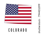 colorado map isolated on white... | Shutterstock .eps vector #794401099