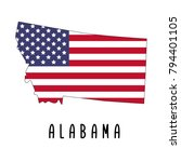alabama map isolated on white... | Shutterstock .eps vector #794401105