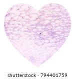 hand drawn watercolor heart... | Shutterstock . vector #794401759