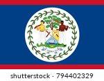 belize state flag. vector... | Shutterstock .eps vector #794402329