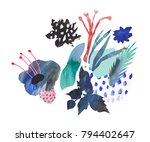 hand drawn artistic bouquet.... | Shutterstock . vector #794402647