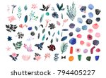collection of hand drawn... | Shutterstock . vector #794405227