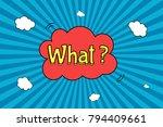 retro comic speech bubble on...   Shutterstock .eps vector #794409661