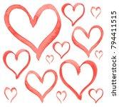 heart love shape set vector...   Shutterstock .eps vector #794411515