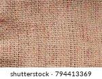 old beige burlap texture... | Shutterstock . vector #794413369