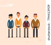 guys colorful characters flat... | Shutterstock .eps vector #794413939