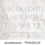 ancient roman letters chiseled... | Shutterstock .eps vector #794420119