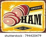 smoked ham advertising with...   Shutterstock .eps vector #794420479